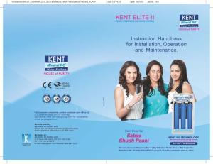 KENT ELITE-II. Instruction Handbook for Installation, Operation and Maintenance