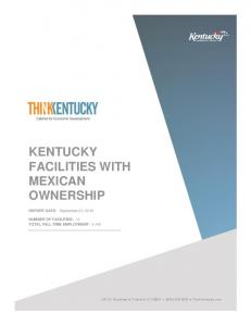 KENTUCKY FACILITIES WITH MEXICAN OWNERSHIP
