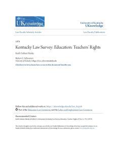Kentucky Law Survey: Education: Teachers Rights