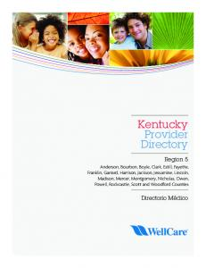 Kentucky Provider Directory