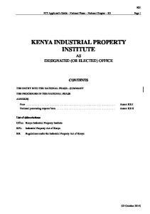 KENYA INDUSTRIAL PROPERTY INSTITUTE