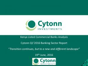 Kenya Listed Commercial Banks Analysis. Cytonn Q Banking Sector Report