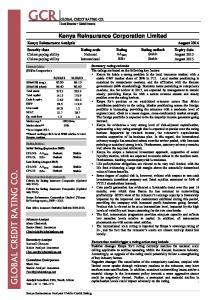Kenya Reinsurance Corporation Limited