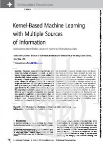 Kernel-Based Machine Learning with Multiple Sources of Information