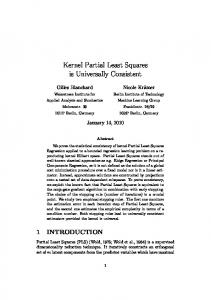 Kernel Partial Least Squares is Universally Consistent