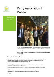 Kerry Association In Dublin
