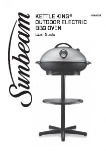 KETTLE KING OUTDOOR ELECTRIC BBQ OVEN