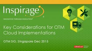 Key Considerations for OTM Cloud Implementations