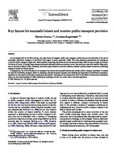 Key factors for successful leisure and tourism public transport provision