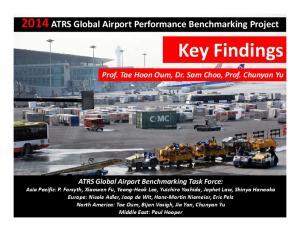 Key Findings ATRS Global Airport Performance Benchmarking Project. Prof. Tae Hoon Oum, Dr. Sam Choo, Prof. Chunyan Yu