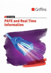 KEY GUIDE. PAYE and Real Time Information