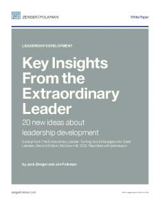 Key Insights From the Extraordinary Leader