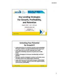 Key Lending Strategies For Growth, Profitability, and Retention