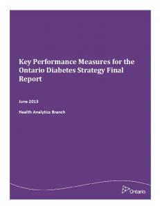 Key Performance Measures for the Ontario Diabetes Strategy Final Report