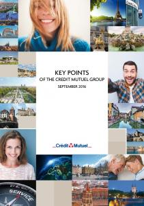 KEY POINTS OF THE CREDIT MUTUEL GROUP