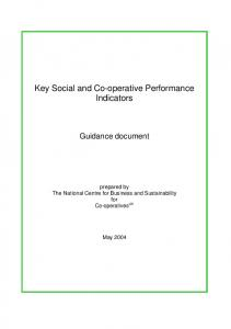 Key Social and Co-operative Performance Indicators