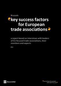 key success factors for European trade associations