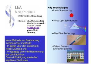 Key Technologies Laser Spectroscopy