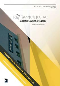KEY TRENDS AND ISSUES IN HOTEL OPERATIONS May 2016