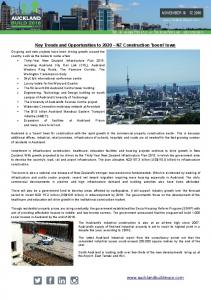 Key Trends and Opportunities to 2020 NZ Construction 'boom' town
