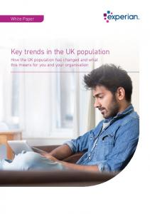 Key trends in the UK population