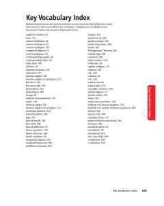 Key Vocabulary Index. Key Vocabulary Index