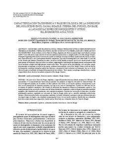 Key words: aquatic palynomorphs, Holocene marine sediments, Beagle Channel