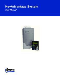 KeyAdvantage System. User Manual