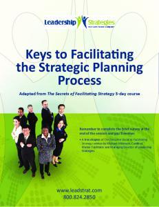 Keys to Facilitating the Strategic Planning Process