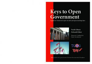 Keys to Open Government
