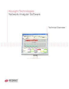 Keysight Technologies Network Analyzer Software. Technical Overview