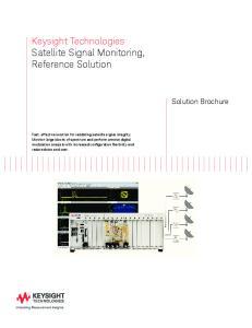 Keysight Technologies Satellite Signal Monitoring, Reference Solution