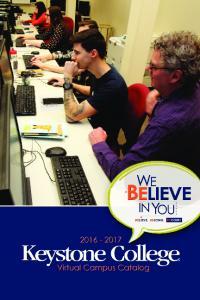 Keystone College Virtual Campus Catalog