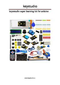 keystudio keyestudio super learning kit for arduino