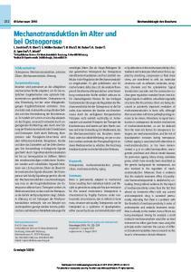 Keywords Osteoporosis, mechanotransduction, primary cilium, mechanosensitivity, aging