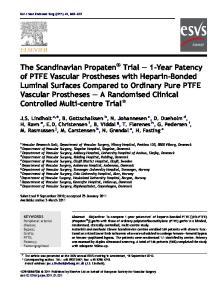 KEYWORDS Peripheral arterial disease; Bypass; Grafts; PFTE; Patency; Femoropopliteal
