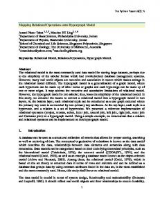 Keywords: Relational Model, Relational Operations, Hypergraph Model