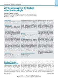 Keywords Virtual Anthropology, micro-computed tomography, shape analysis, biomechanics