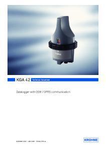 KGA 42 Technical Datasheet