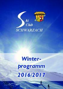 ki Club SCHWARZACH Winterprogramm