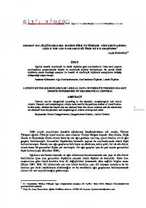 KIŞ WINTER 2013 SAYI NUMBER 7 SAYFA PAGE 1-9
