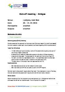 Kick off meeting Bridges