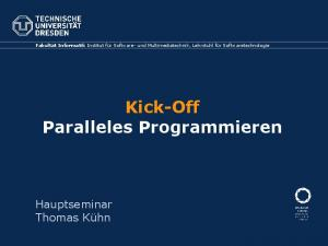 Kick-Off Paralleles Programmieren