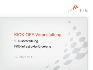 KICK-OFF Veranstaltung