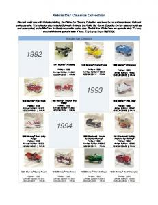 Kiddie Car Classics Collection