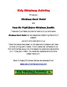 Kids Christmas Activities