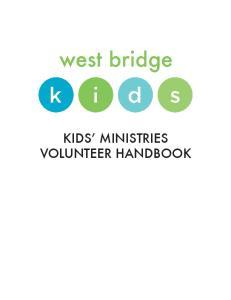 KIDS MINISTRIES VOLUNTEER HANDBOOK
