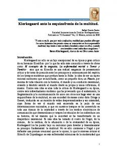 Kierkegaard ante la esquizofrenia de la multitud