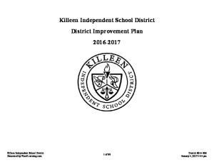Killeen Independent School District District Improvement Plan