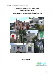 Killiney Proposed Architectural Conservation Area